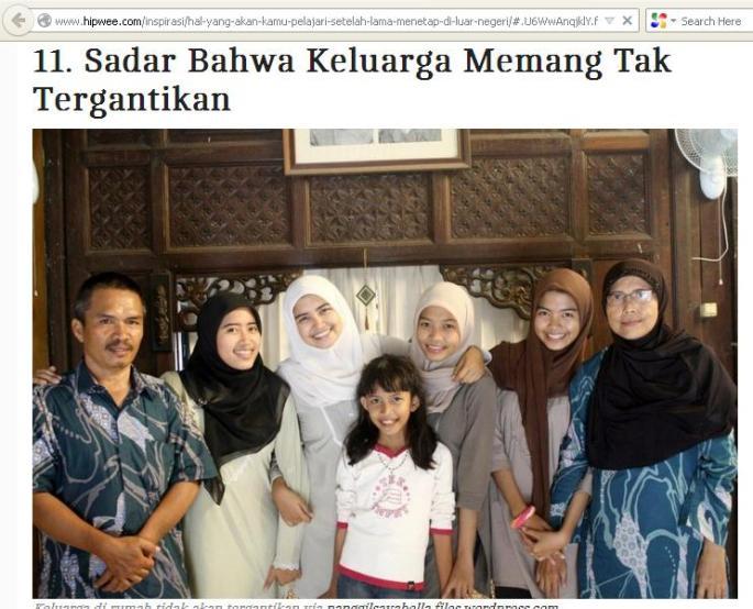 keluargaku muncul di situs hipwee.com
